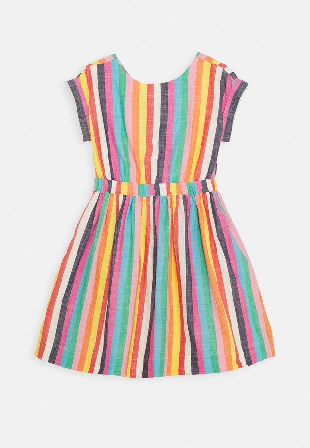 PIA STRIPE DRESS - Korte jurk - ivory/multi