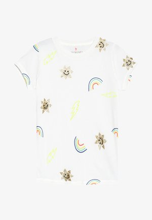 ALL OVER RAINBOW SUNS - Camiseta estampada - ivory
