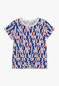 J.CREW - LOVE ALLOVER TIE FRONT  - T-shirt imprimé - blue/red - 0