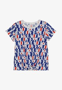 J.CREW - LOVE ALLOVER TIE FRONT  - T-shirt imprimé - blue/red - 2