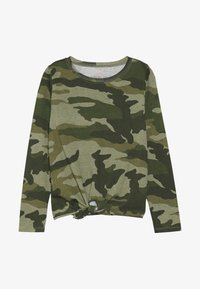 J.CREW - TIE FRONT MAGGIE EVERYDAY - Long sleeved top - tuscan olive - 2