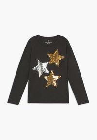J.CREW - REVERSIBLE STARS - Long sleeved top - black sequin stars - 0