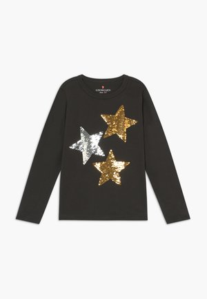 REVERSIBLE STARS - Long sleeved top - black sequin stars
