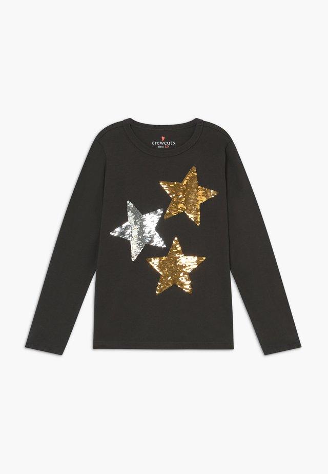 REVERSIBLE STARS - Longsleeve - black sequin stars