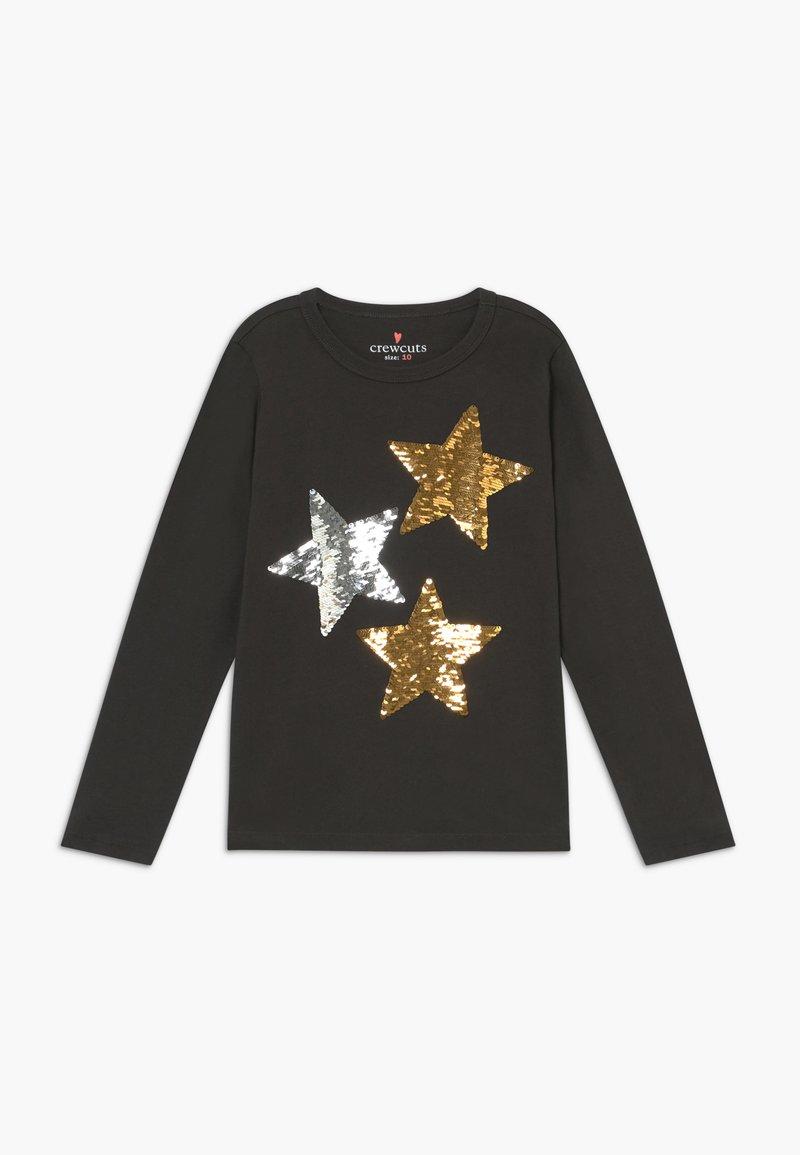 J.CREW - REVERSIBLE STARS - Long sleeved top - black sequin stars