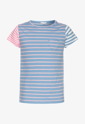 STRIPED HEART POCKET  - Print T-shirt - blue/pink/multicolor