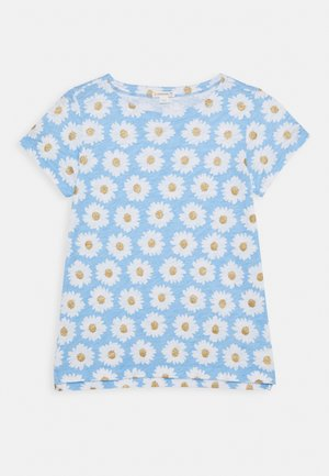 ALL OVER DAISY TEE - T-Shirt print - blue/gold