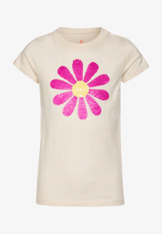 FLIP SEQUIN DAISY GRAPHIC TEE - T-shirt imprimé - white