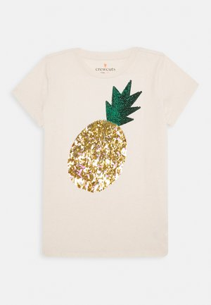 SEQUIN PINEAPPLE - T-shirt print - white