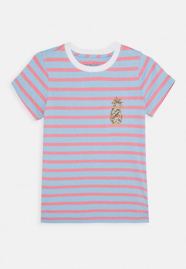 STRIPED CRITTER TEE - T-shirt print - blue