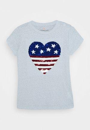 AMERICAN HEART TEE - T-shirt print - white