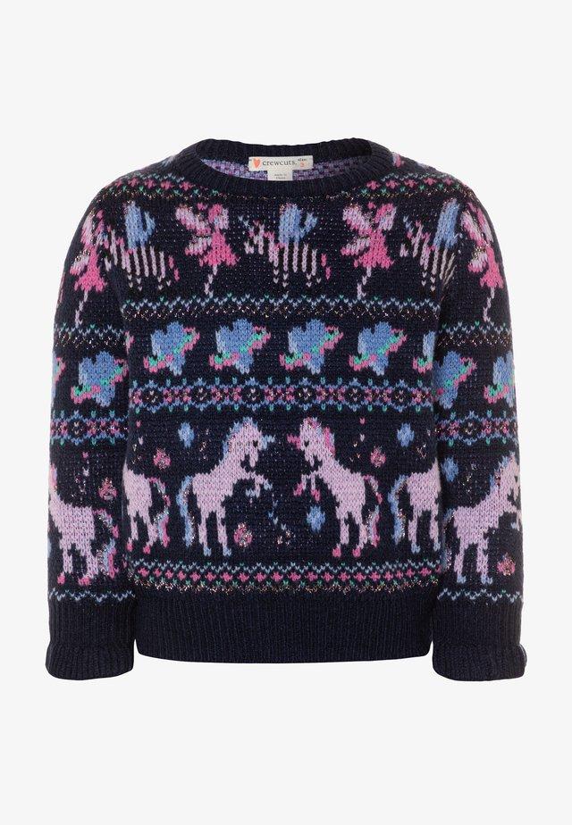 FAIRY FAIRISLE - Stickad tröja - navy/lilac/multicolor