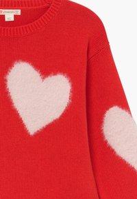 J.CREW - HEART INTARSIA POPOVER - Pullover - bright cerise pink - 3