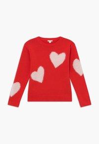 J.CREW - HEART INTARSIA POPOVER - Pullover - bright cerise pink - 0