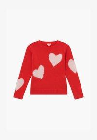 J.CREW - HEART INTARSIA POPOVER - Pullover - bright cerise pink - 2