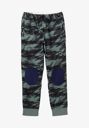 PRINTED BUTTERY KNEE PATCH JOGGER - Pantalones deportivos - green