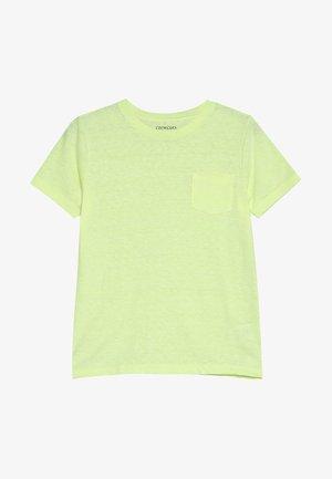 POCKET TEE - Basic T-shirt - neon lemon
