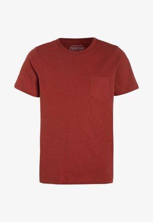 TEE - Jednoduché triko - brick red