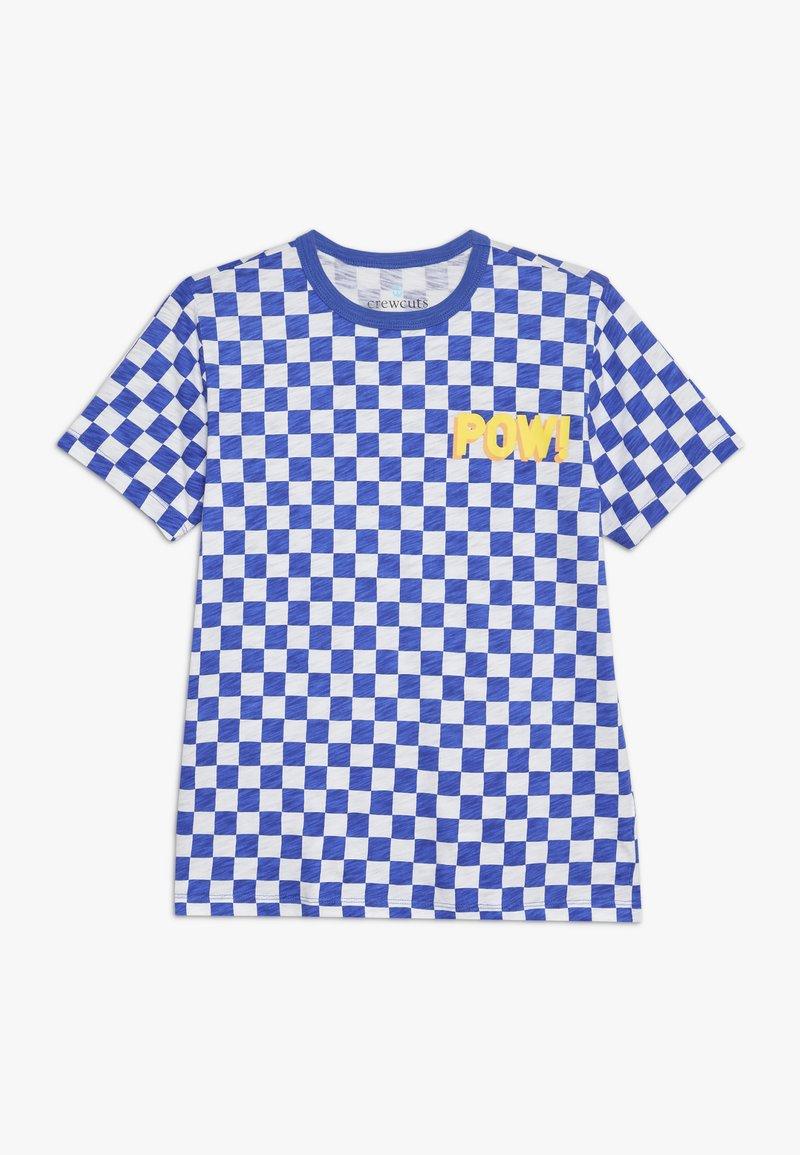 J.CREW - POW SLUB - T-shirt imprimé - blue/white