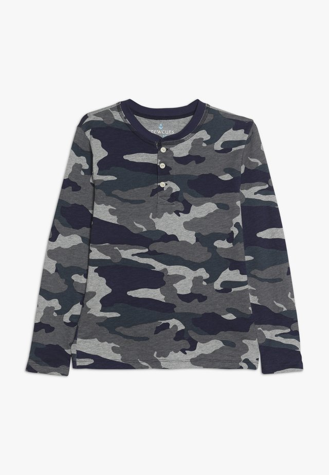 CAMO HENLEY - Långärmad tröja - heather slate