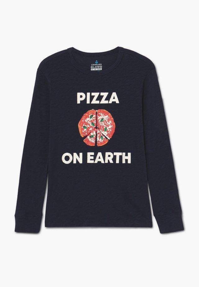 PIZZA ON EARTH - Longsleeve - dark blue
