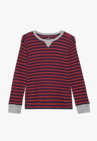 J.CREW - STRIPE WAFFLE - T-shirt à manches longues - blue/red - 0