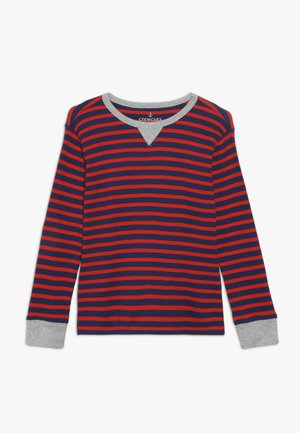 STRIPE WAFFLE - Long sleeved top - blue/red
