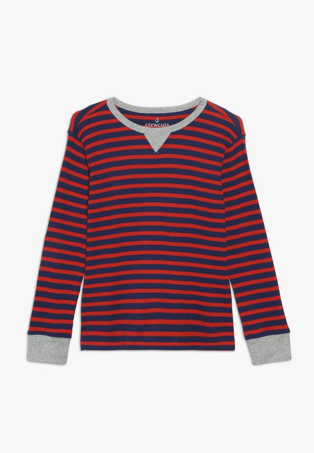 STRIPE WAFFLE - T-shirt à manches longues - blue/red
