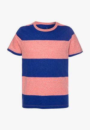 THICK STRIPE ABBOTT TEE - Triko s potiskem - red/blue