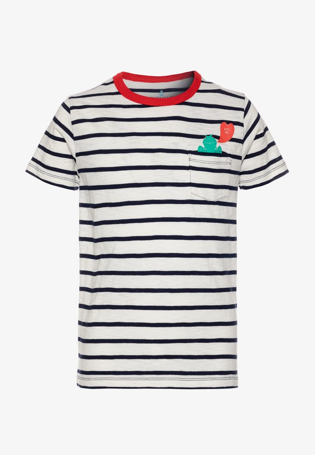 KISS ME FROG - Camiseta estampada - white