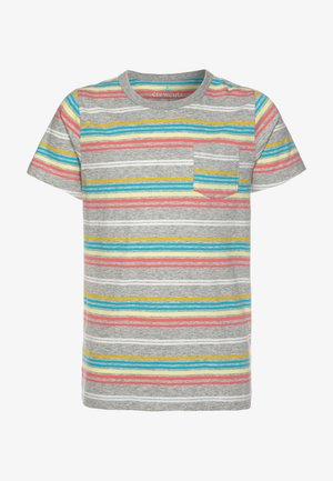 RAINBOW STRIPE - T-shirt imprimé - grey/multicolor