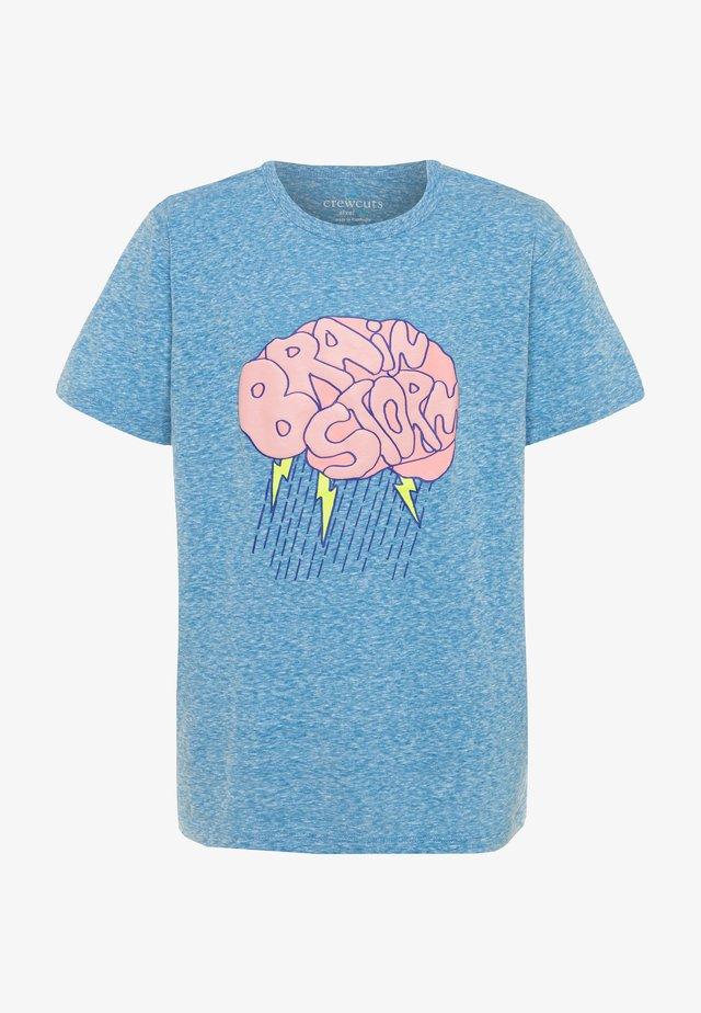 BRAIN STORM TEE ABBOTT - T-shirt print - blue