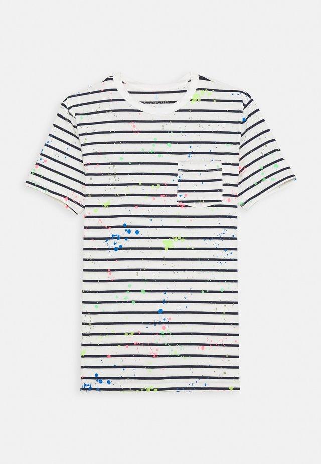 SPLATTER TEE - T-shirt print - ivory/neon multi