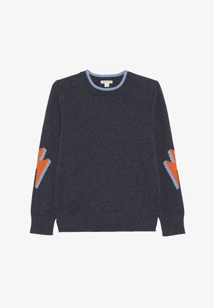 Sweter - bolt navy/neon