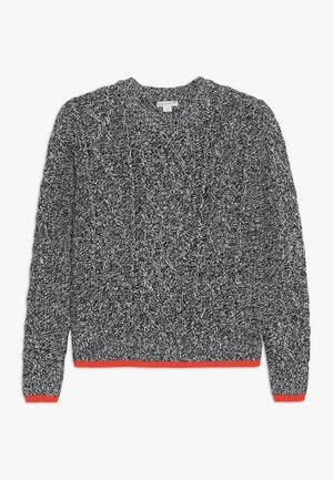 CABLE CREW - Pullover - black ivory