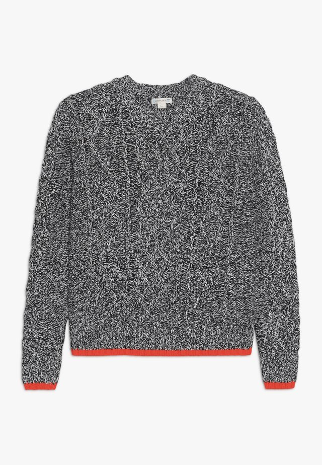 CABLE CREW - Strickpullover - black ivory