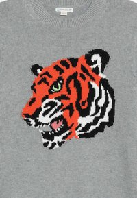 J.CREW - TIGER INTARSIA CREW  - Jumper - grey/persimmon/multi - 3