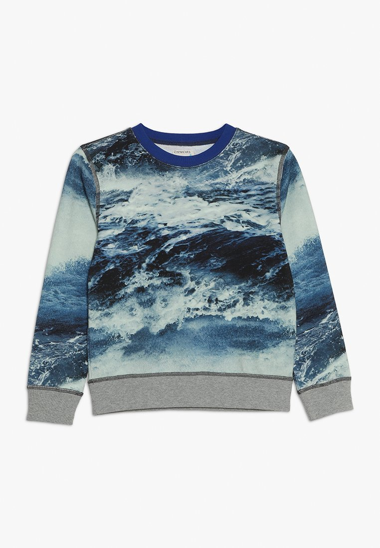 J.CREW - PHOTOPRINT CREWNECK - Sweatshirt - blue multi