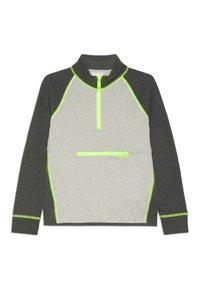 J.CREW - COLORBLOCK POPOVER - Sweatshirt - heather dusk/charcoal - 0