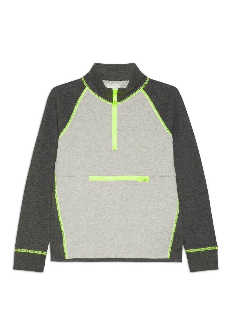 J.CREW - COLORBLOCK POPOVER - Sweater - heather dusk/charcoal