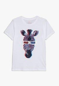 J.CREW - 3D ZEBRA - T-shirt med print - white - 0