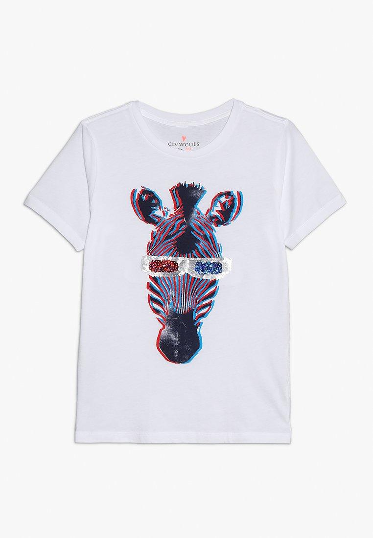 J.CREW - 3D ZEBRA - T-shirt med print - white