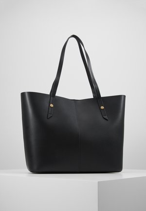 BONDED UNLINED TOTE - Shopping Bag - black