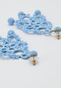 J.CREW - EMBROIDERED BEADED STATEMENT - Earrings - blue - 2