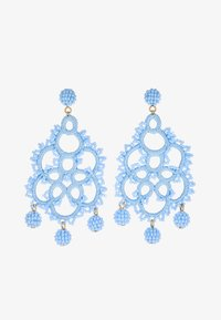 J.CREW - EMBROIDERED BEADED STATEMENT - Earrings - blue - 3