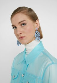 J.CREW - EMBROIDERED BEADED STATEMENT - Earrings - blue - 1
