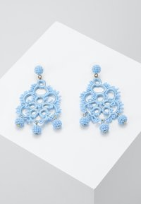J.CREW - EMBROIDERED BEADED STATEMENT - Earrings - blue - 0