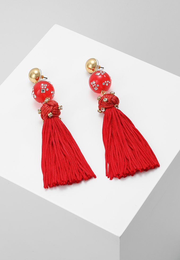 J.CREW - CRYSTAL CANDY BALL TASSEL EARRINGS - Earrings - vibrant flame