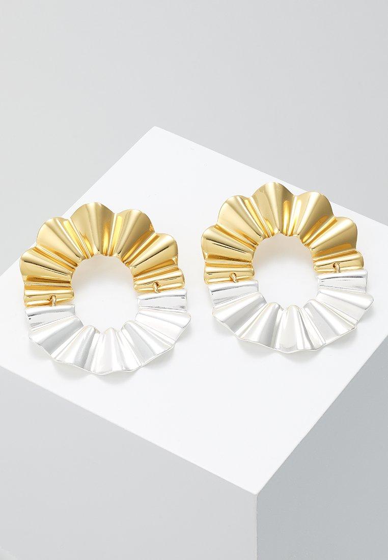 J.CREW - REFLECTED CRINKLE EARRINGS - Korvakorut - gold-coloured