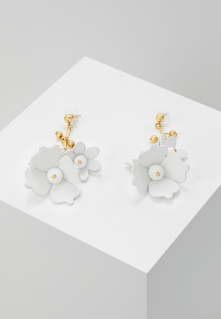 J.CREW - BELLE FLOWER - Pendientes - white